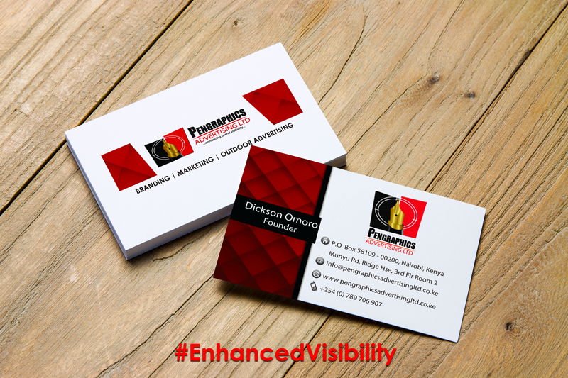 Business cards pengraphics advertising business cards printing in nairobi kenya reheart Image collections